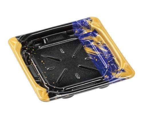 簡易式フードパック(プレート容器) MFPグリル17-17内嵌合本体 流星青 170×170×26 450個入り/61-8608-96