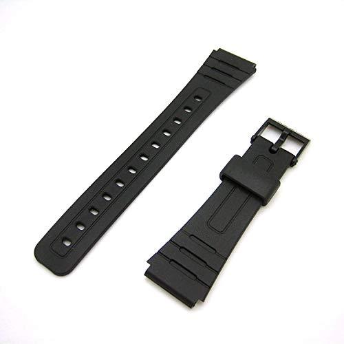 Ekam, cinturino di ricambio per orologio Casio F91W, realizzato appositamente per Casio F-91W, cinturino nero generico 18 mm F91