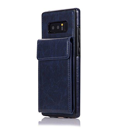 Cover Galaxy Note 8,Oihxse Custodia Compatibile con Galaxy Note 8 Portafoglio,PU Pelle Premium Cover,Carta Fessura Flip Wallet Case Cover con Chiusura Magnetica Cover Stile (blu)