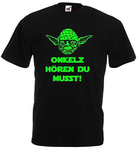 Master Yoda Unisex T-Shirt Star Wars Spruch Onkelz hören du musst!L