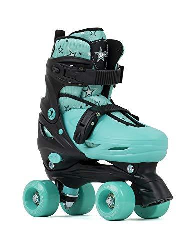 Sfr Skates SFR Nebula - Pattini da Pattinaggio Unisex per Bambini, Colore: Nero/Verde