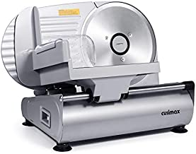 """CUSIMAX Meat Slicer Electric Food Slicer with 7.5"""" Removable Stainless Steel Blade and Pusher, Deli Cheese Fruit Vegetable Bread Cutter, Adjustable Knob for Thickness, Food Carriage & Non-Slip Feet"""