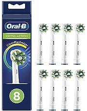 Oral-B Crossaction Brossettes De Rechange CleanMaximiser x8, Recharge Originale Pour Brosse À Dents Électrique