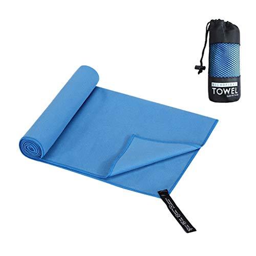 Yowablo Outdoor-Reisen Camping Mikrofaser Schnelltrocknende Handtuch Strand Wandern Schwimmen (40×80cm,Blau)