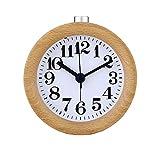 Reloj de mesa Reloj despertador de madera Reloj de cabecera for niños Reloj despertador electrónico pequeño con lámpara de mesa Hecha a mano Clásico Pequeño Redondo Mudo Escritorio Reloj despertador
