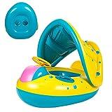 Yesloo Flotador, Flotador Bebé , Flotador Bebé Cuello, Flotador para Bebé Piscina , Anillo de natación Inflable, Flotación para Bebés con Techo removible (A)