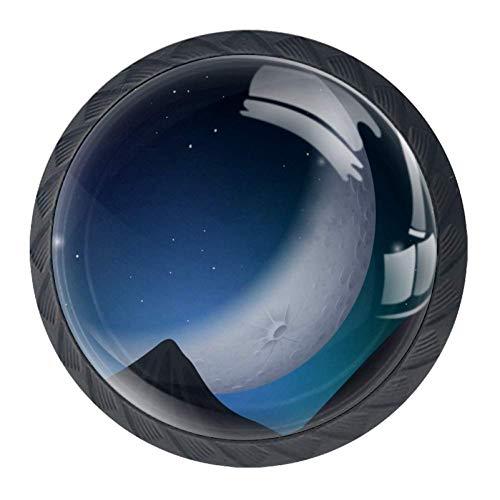Star Moon Flaschengriffe, 4 Stück, mit Edelstahl-Schraube, Schrank, Kleiderschrank, Kommode, Box, Dekoration, Schubladenknöpfe, 3,5 x 2,8 cm, 3, 3.5×2.8CM