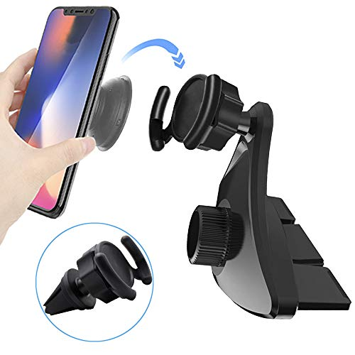 CD Slot Car Grips Phone Holder for Collapsible Grip/Socket Mount Users, Air Vent Clip Car Mount for Phone StandCompatible with iPhone 11 Pro Max XR Xs X 8 7 Plus Galaxy Note10 9 S10