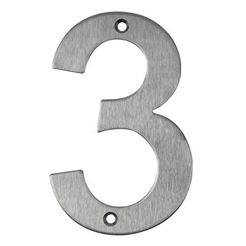 Número de casa de acero inoxidable para atornillar, número de casa, número de puerta de diseño (3)