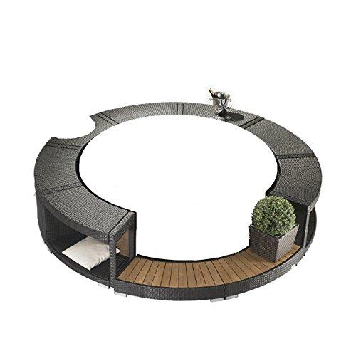 Softub Poly-Rattanumrandung Mocca für Whirlpool Resort 300