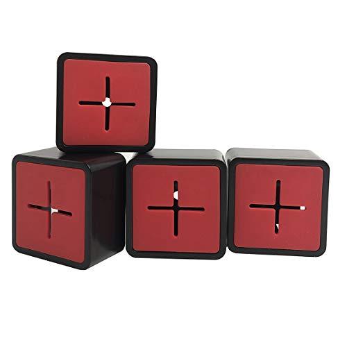 TheStriven 4 Stück Handtuchklemme Haushalt Geschirrtuchhalter Handtuchhalter Ohne Bohren ABS Handtuchhaken Selbstklebender Handtuchhalter Quadrat Handtuchhaken für Bad, Küche und Haushalt (Rot)