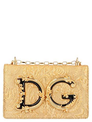 Luxury Fashion | Dolce E Gabbana Donna BB6498AA2678D919 Oro Borsa A Spalla | Autunno Inverno 19
