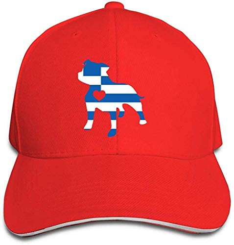ZYZYY Berretto da baseball unisex Love Dog Grecia Bandiera Grecia Snapback Hat regolabile Peaked Sandwich
