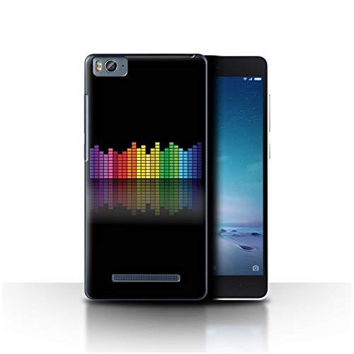 eSwish - Carcasa para teléfono móvil, diseño de Colores neón Égaliseur Graphique EQ Xiaomi Mi 4C