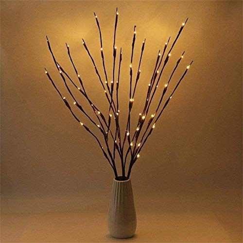 Mingbai 3 Pack Lighted Branches Decorative LED Twig Branch Lights Home Decoration for Living Room Floor Vase Christmas