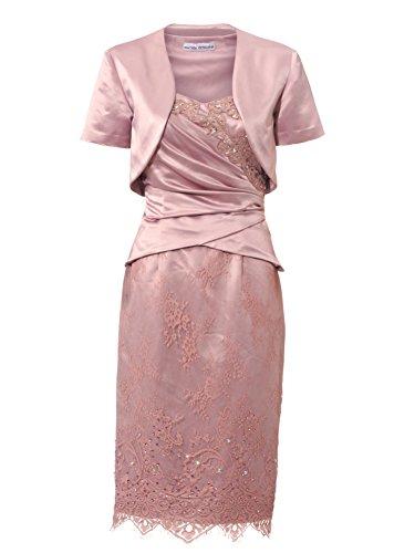 Ashley Brooke Abendkleid mit Bolero rosé Gr.40