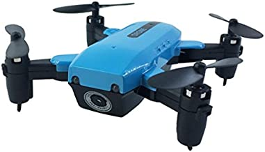 Cinhent Helicopter Remote Control Drone L200 2.4GHz Mini Foldable Quadcopter With Battery Pocket RC Helicopter Airplanes Toys For Adults Kids (Without Camera) (Blue)