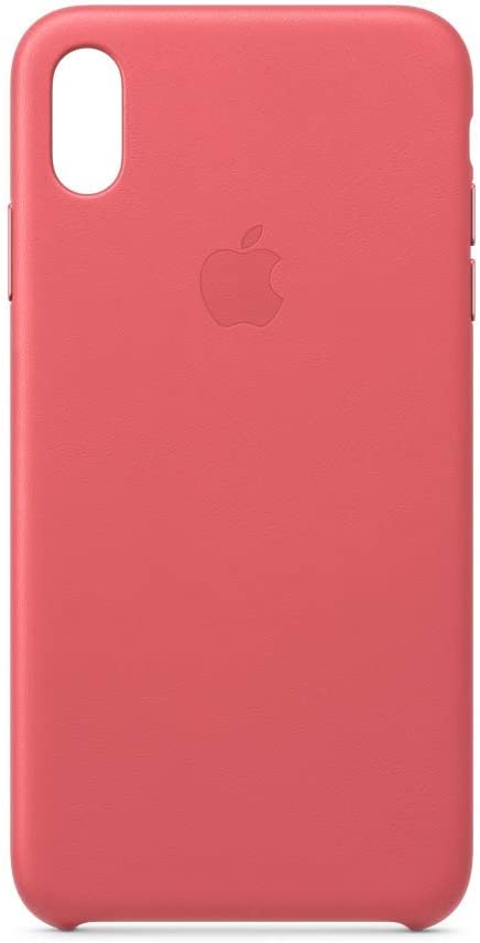 Apple Leather Case (for iPhone Xs Max) - Peony Pink