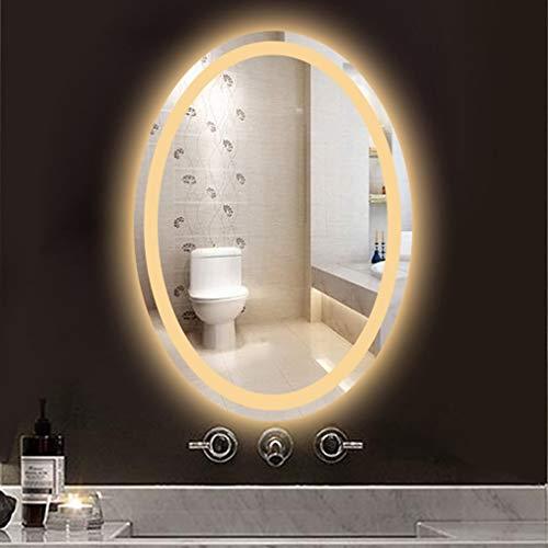 Miroir De Maquillage avec Lumière, De Courtoisie Ovale Illuminé par LED pour Le Soin Cosmétique De Beauté Tweezing Et Élimination des Points Noirs/Taches, Décoration De La Maison