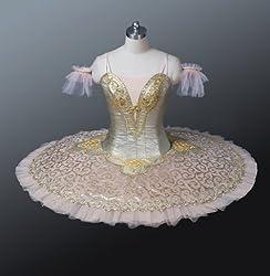 Gold Classical Professional Ballet Tutu for Competition & Performance Jeté