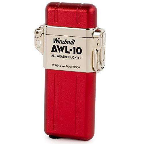 WINDMILL(ウインドミル) ライター AWL-10 ターボ 防水 耐風仕様 レッド 307-1001 74 (h) x 39 x 13 mm