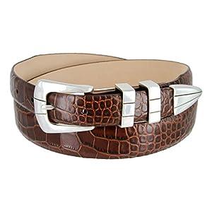 Vince Italian Calfskin Leather Designer Golf Dress Belt for Men