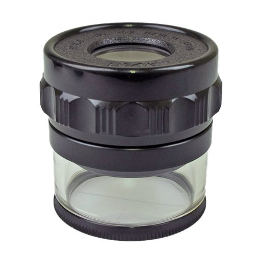 PEAK TS1983 Full Focus Scale Loupe, 10X Magnification, 0.8' Lens Diameter, 1.1' Field View
