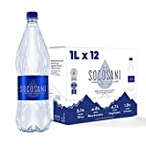 Socosani Mineral Sparkling Water from Andes Mountain 100% natural Alkaline Water High TDS Water with 5X more Minerals than premium water brands Perfectly balanced 7.4 pH water (33.8 Fl Oz x 12 bottles)
