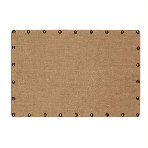 "Pemberly Row 24"" x 36"" Nailhead Corkboard in Burlap"