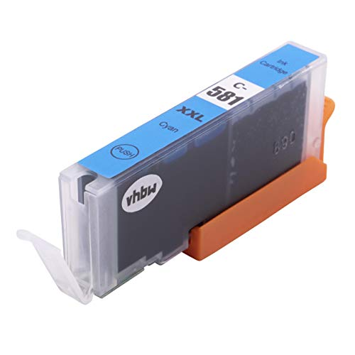vhbw Cartucho de Tinta Cian Compatible con Canon Pixma TS8350, TS6350, TS705, TS9550, TR8550, TR7550 - Cartucho Impresora + Chip