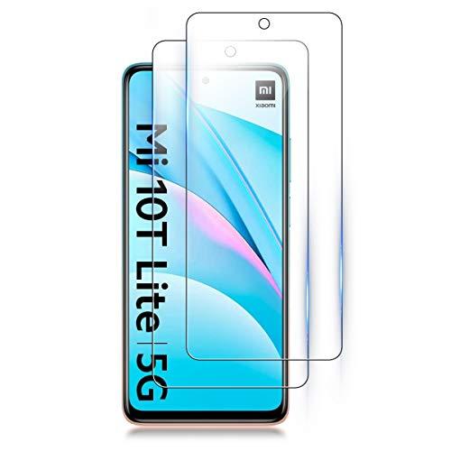 ELYCO [2 Pezzi] Vetro Temperato per Xiaomi Mi 10T Lite/Redmi Note 9S/9 PRO Max/Poco X3 NFC, 9H Durezza [Anti-Graffo/Olio] Pellicola Protettiva per Xiaomi Mi 10T Lite/Redmi Note 9S/9 PRO/Poco X3 NFC