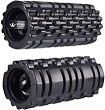 Kyng Fitness Vibrating Foam Roller Yoga 3 Speed High Intensity Vibration Electric Roller Trigger Point Foam Roller Sore Muscles Enhance Mobility Performance Pliability Training Roller