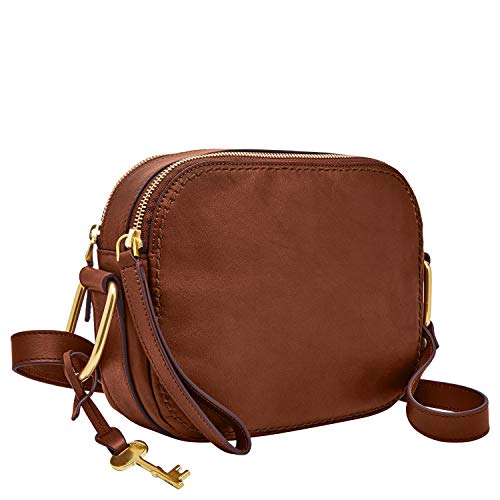 Fossil Women's Elle Leather Crossbody Handbag, Brown