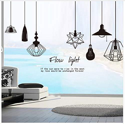 Vloerlamp kroonluchter zelfstavende muursticker voor slaapkamer woonkamer kunst wandtattoos doe-het-zelf muurschildering wallposter wooncultuur