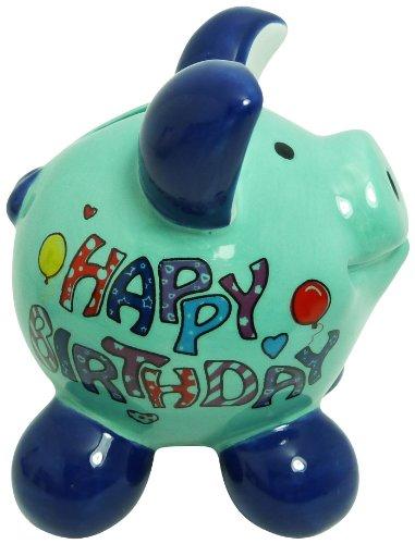 Swiggie Sparschwein Glücksschweinchen Happy Birthday Spardose 8,5cm 13cm 15,5cm: Größe: 08,5 cm
