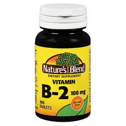 Natures Vitamin B2, 100 mg, 100 tabs by Natures Blend (Pack of 2)