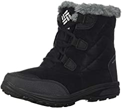 Columbia Women's Ice Maiden Shorty Snow Boot, Black, Grey, 8.5
