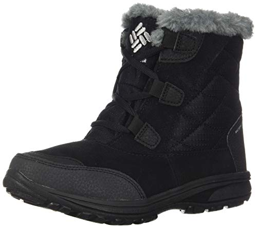 Columbia Women's ICE Maiden Shorty Snow Boot, Black, Grey, 8.5 Regular US