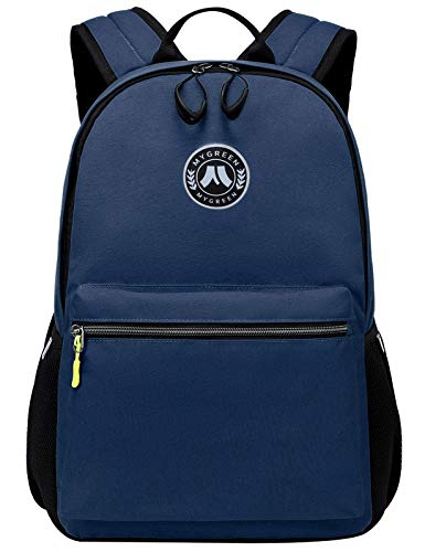School Backpack, Mygreen Unisex Classic Lightweight Water Resistant Rucksack Travel Backpack Fits 15.6-Inch Laptop Dark Blue
