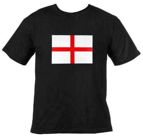 Ultrasport T-shirt lumineux à LED Noir Angleterre xl