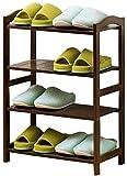 Moderna minimalista de zapatos cremallera de una pieza de calzado de madera Gabinete de almacenamiento compartida multifunción de cuatro capas zapatero 50x25x68cm Taburete cambiar zapatos