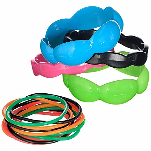 Neon 80's Assorted Bracelet Set. Plastic and Jelly