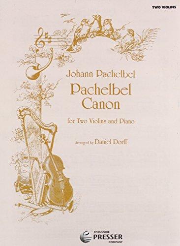 Pachelbel Canon Dorff 2 Violins Piano