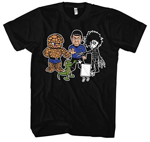 Stein Papier Schere Echse Spock Herren T-Shirt | Big Bang Theory Fanartikel - Sheldon t-Shirt - Big Bang Theory Tshirt Herren | M3 (4XL)