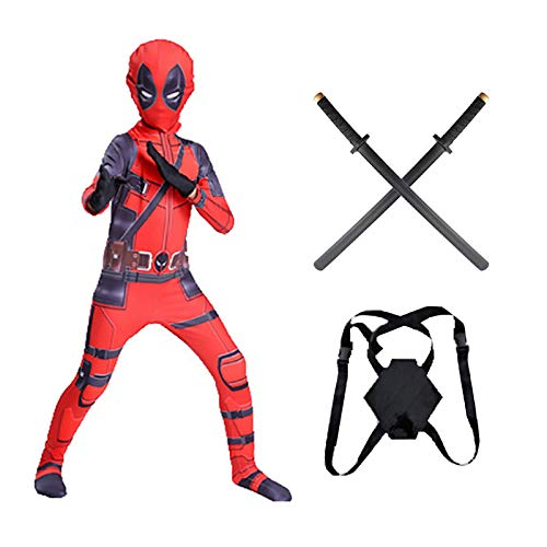 WEIR Disfraz de Cosplay de Deadpool para niños y Adultos