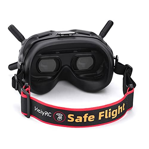 HeiyRC Verstellbares Kopfband für DJI FPV Goggles V2 Fatshark VR Goggles Kopfband (sicheres Flugmuster)
