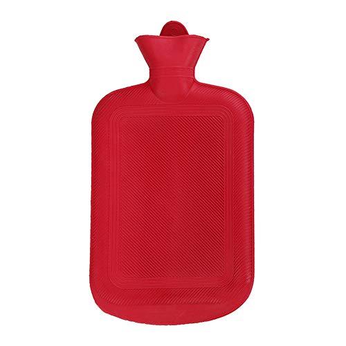 Botella de agua caliente con tapa, 500/1000/1750/2000 ml, portátil, de goma, para invierno, bolsa de agua caliente, calentador de manos 500 ml