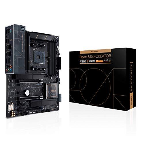 Asus ProArt B550-CREATOR, Scheda madre AMD B550 Ryzen AM4 ATX,PCIe 4.0, 2x Thunderbolt 4 Type-C, 2x Intel 2.5Gb Ethernet, 2x M.2 con dissipatori, USB 3.2 Gen 2 e gestione avanzata della sicurezza