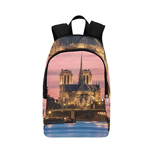 Limiejo Casual Evening Bags Holy Notre Dame De Paris Sign Landscape Durable Water Resistant Classic Casual Bags for School Clear Travel Toiletry Bag Best School Bags Bag Men Travel