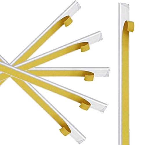 10 Klemmschienen selbstklebend | Transparent | DIN A4 | 3-4 mm Füllhöhe | Klemmschiene zur Nachrüstung von Bewerbungsmappen, Mappen und Ordner | Bewerbung | Präsentation | von CARPETA®